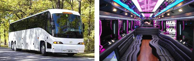 50 passenger party bus Frankfort