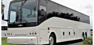 50 passenger charter bus Frankfort